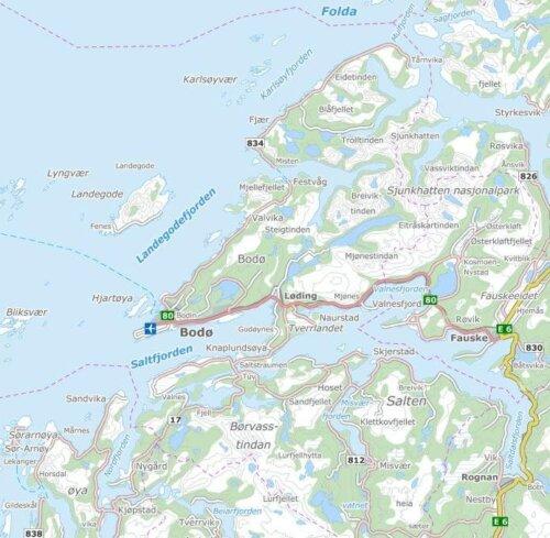 kart over salten Salten Regionråd   Grunnkart Salten